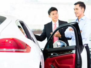 Man Buying Used Car