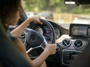 female driving